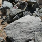 Blue Black Landscape Boulders