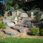 Gun Metal Granite Landscaping Boulders