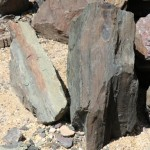 Multi-Colored Fractured Landscape Boulders