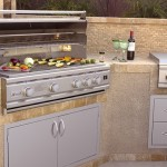 Broilmaster TRLD44 Built-In Gas Grill with doors and side burner
