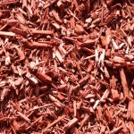 Designer Red Processed Landscaping Mulch at Benson Stone Co. in Rockford, IL