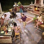 Outdoor Fireplace and Grill by Unilock at Benson Stone Co. in Rockford, IL