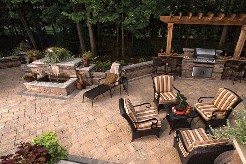 Bon Outdoor Grill And Patio By Unilock At Benson Stone Co. In Rockford, IL