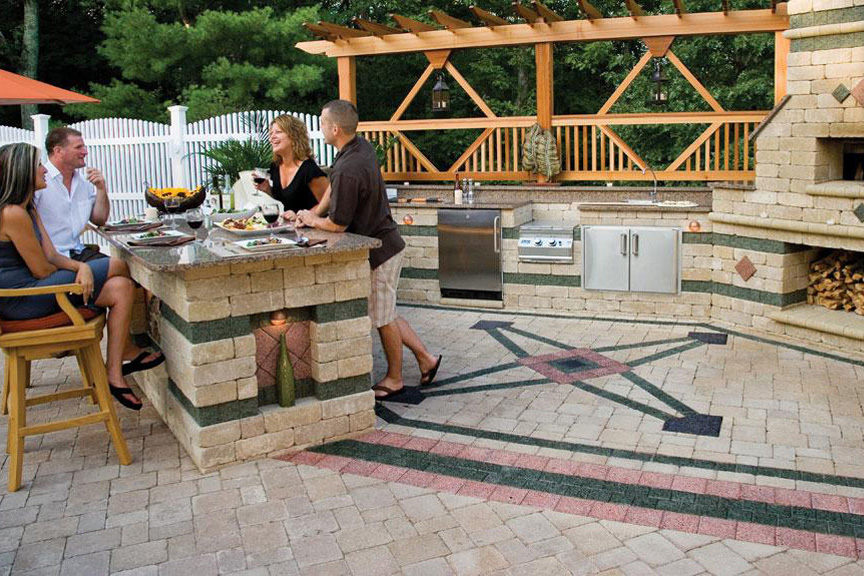 Brussels Block Paver Patio By Unilock At Benson Stone Co. In Rockford, IL