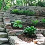 Chilton Splitface Natural Retaining Wall Stone at Benson Stone Co. in Rockford, IL