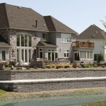 Sienna Stone Retaining Wall Block by Unilock at Benson Stone Co. in Rockford, IL