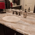 Bathroom sink and faucet with granite countertops