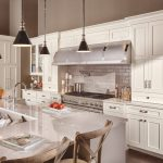 Large kitchen white cabinets and island