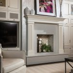 Entertainment cabinets and faux fireplace