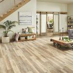 hardwood look of LVP in a living room