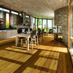 hardwood floors in kitchen and dining room