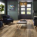 Aged hardwood look LVP flooring