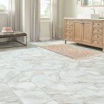 Marble tile look luxury vinyl tile flooring