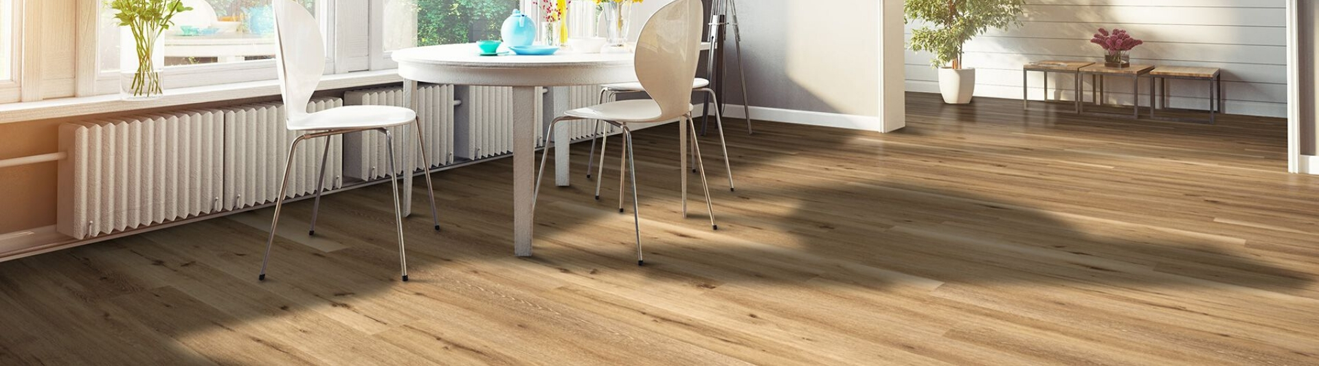 Luxury Vinyl Tile (LVT) Flooring in house with table and chairs