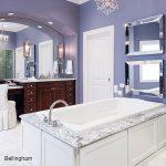 Bellingham quartz surround tub in bathroom