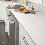 Modern Ella Quartz countertops in kitchen