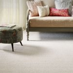 Dove white soft carpeting in a living room