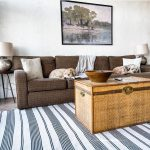 nautical striped area rug in living room