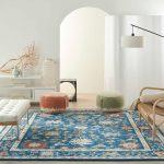 aqua vintage pattern area rug by feizy