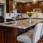 beige custom granite kitchen countertop island