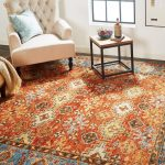 sunshine organe patterned area rug in sitting room