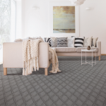 Diamond texture grey carpet