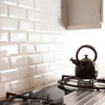 White subway tile backsplash