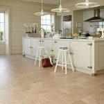 Beige ceramic kitchen floor tile
