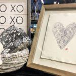 wooden frame heart boutique home decor rockford il
