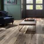 Rustic hardwood flooring in a living room