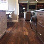 Walnut hardwood flooring in a kitchen