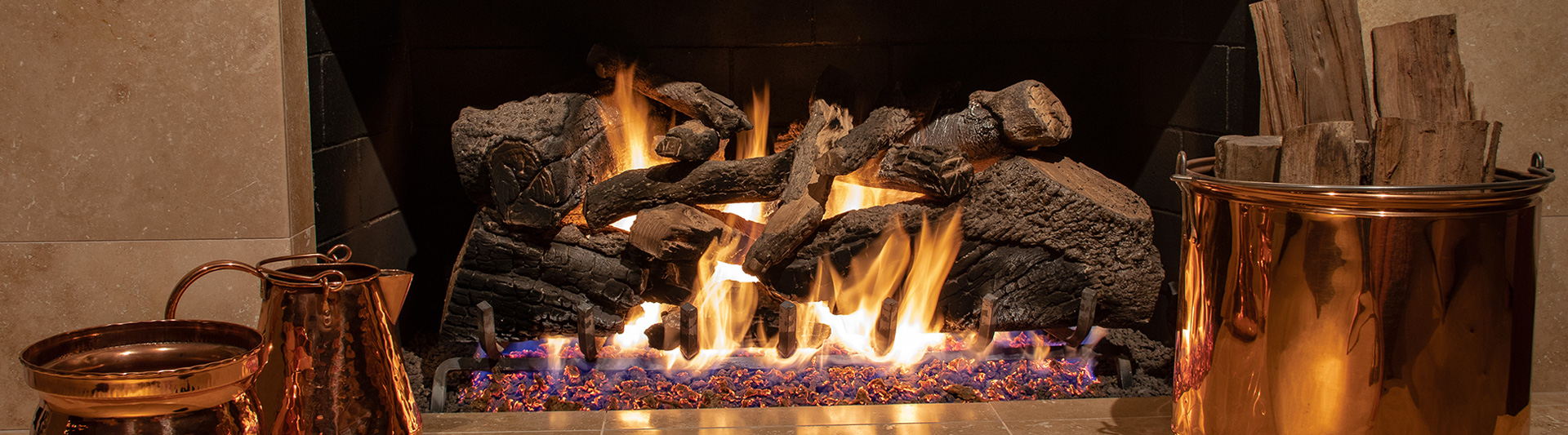 Benson Stone sells gas logs for your gas fireplace